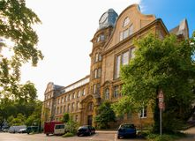 The Gorres School Gymnasium in Dusseldorf. The Gorres School is placed here since 1906 Royalty Free Stock Photos