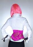 gorsecik ubierająca Oriental szczupła kobieta Obrazy Stock