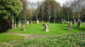 Gorsedd do círculo dos bardos em Haverfordwest Pembrookshire fotos de stock