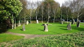 Gorsedd van Bards cirkel in Haverfordwest Pembrookshire stock foto's