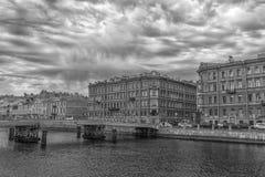 Gorstkinbrug over de Fontanka-Rivier Royalty-vrije Stock Foto's