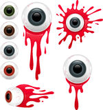 Gory Eyes Set Stock Images
