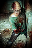 Gory zombie royalty free stock photography