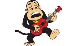 Goryl bawić się gitara wektor Fotografia Stock
