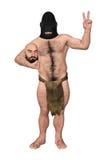 Goryl Przebierający W Ludzkiej Kostiumowej ilustraci ilustracja wektor