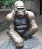 Goryl statua Zdjęcia Stock