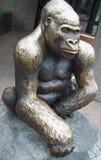 Goryl statua Obrazy Royalty Free