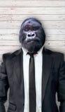 Goryl w czarnym kostiumu, biznesowy pojęcie Fotografia Stock