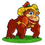 Goryl w złotym kostiumu Obraz Royalty Free