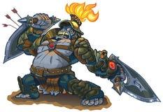 Goryla wojownika fantazi wektoru ilustracja Zdjęcia Royalty Free