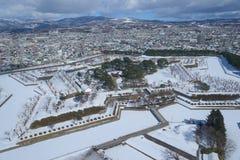 Goryokaku στο Hakodate, Hokkaido Στοκ Φωτογραφίες