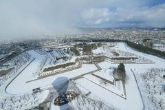 Goryokaku στο Hakodate, Hokkaido Στοκ Εικόνα