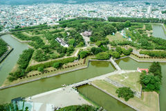 Goryokaku fort Royaltyfria Foton