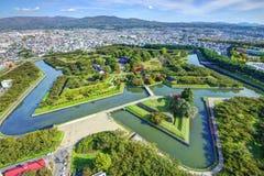 Goryokaku Park stockbilder