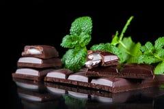 Gorzka czekolada z nowym plombowaniem Fotografia Stock