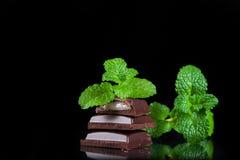 Gorzka czekolada z nowym plombowaniem Obrazy Royalty Free