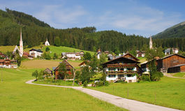 Gosau,Alps,Austria. The idyllic village of gosau in the alps,upper austria,austria Stock Photo