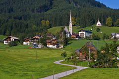 Gosau, Austria. Gosau, beautiful town in Salzkammergut region, Austria Stock Photo