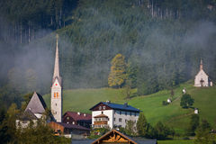 Gosau, Austria. Gosau, beautiful town in Salzkammergut region, Austria Royalty Free Stock Image