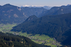 Gosau, Austria. Gosau view from Gosaukamm, beautiful town in Salzkammergut region, Austria Stock Photos