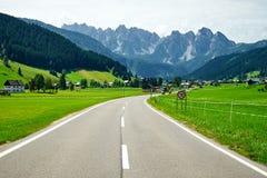 Gosau Austria, Upper Austria Gosau Mountain Road. Royalty Free Stock Photo