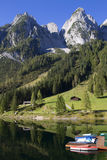 Gosau mountain ridge and Lake Gosausee Stock Photo