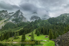 Gosau valley before the storm. The photo was taken under the Gosau mountain in summer. Within a few minutes, the storm came down Royalty Free Stock Photography