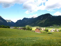 Gosau village Stock Image