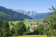 Gosau village in the dell, Austria. In summer Stock Photography