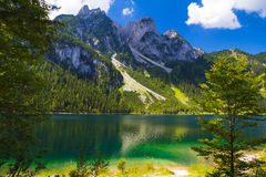 Gosaukamm with Gosausee lake, Alps, Austria Stock Photo