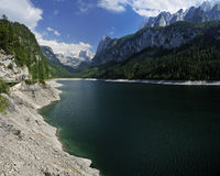 Gosausee. Alpine scenery at Gosau mountain lake in Salzkammergut - Austria Royalty Free Stock Images