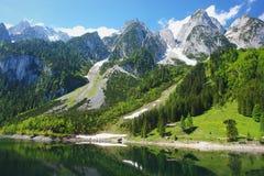 Gosausee, Austria. View of Alpine lake Gosausee, Austrian Alps Stock Photos