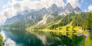 Gosausee Panorama Royalty Free Stock Images