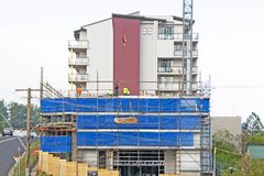 Construction Units Beane St stock images
