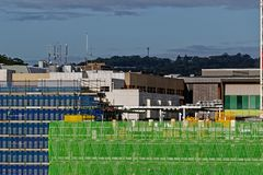 Gosford Hospital building progress December 6, 2018. h72ed. Gosford, New South Wales, Australia - December 6, 2018: Construction and building work on Gosford royalty free stock photos