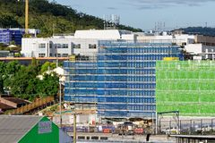 Gosford Hospital building progress December 6, 2018. h74ed. Gosford, New South Wales, Australia - December 6, 2018: Construction and building work on Gosford stock images