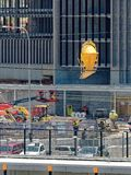 Gosford Hospital building progress December 20, 2018. h80ed. Gosford, New South Wales, Australia - December 20, 2018: Transporting a concrete bucket on the stock images