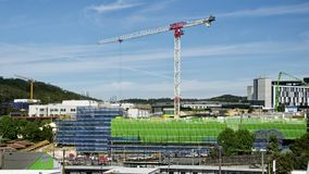 Gosford Hospital building progress H66ed November 2018. Gosford, New South Wales, Australia - November 13, 2018: Construction and building work on Gosford royalty free stock image