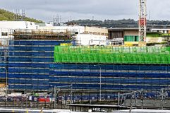 Gosford Hospital building progress H64ed November 2018. Gosford, New South Wales, Australia - November 4, 2018: Construction and building work on Gosford royalty free stock photos
