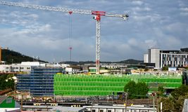 Gosford Hospital building progress H68ed November 2018. Gosford, New South Wales, Australia - November 27, 2018: Construction and building work on Gosford royalty free stock photo