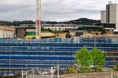 Gosford Hospital building progress H52ed October 2018. Gosford, New South Wales, Australia - October 12, 2018: Construction and building work on Gosford Hospital royalty free stock photo