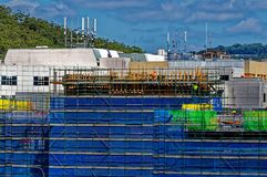 Gosford Hospital building progress H59ed October 2018. Gosford, New South Wales, Australia - October 27, 2018: Construction and building work on Gosford Hospital royalty free stock photo