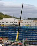 Gosford Hospital building progress H49ed October 2018. Gosford, New South Wales, Australia - October 12, 2018: Waters Mobile Crane operating on Gosford Hospital stock photo