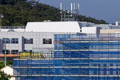 Gosford Hospital building progress November 27, 2018. h70ed. Gosford, New South Wales, Australia - November 27, 2018: Construction and building work on Gosford stock photography