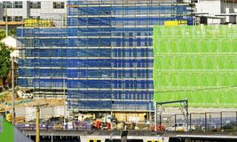 Gosford Hospital building progress November 27, 2018. h69ed. Gosford, New South Wales, Australia - November 27, 2018: Construction and building work on Gosford stock images