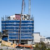 Building progress 111. At 47 Beane St. Gosford. Augusst 2018. Gosford, New South Wales, Australia - August 1. 2018: Construction and building progress update stock image