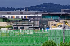Gosford Hospital building progress November 27, 2018. h71ed. Gosford, New South Wales, Australia - November 27, 2018: Construction and building work on Gosford stock photos