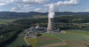 Gosgen kerncentrale - Lucht4k stock footage