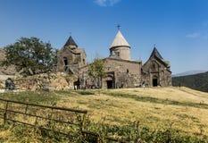 Goshavank修道院在1188年建立了 它位于大约20 库存照片