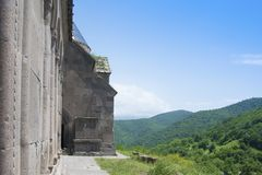 Goshavank,亦不Getik -亚美尼亚中世纪修道院复合体在Ghosh村庄在亚美尼亚 库存照片